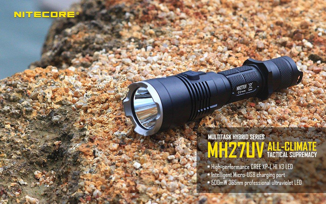 Nitecore MH27UV Utilizes Cree XP-L HI V3 LED Flashlight - 1000 Lumens
