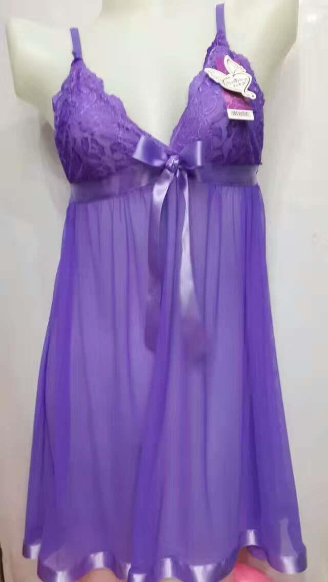 Nitez Dress Wear Sexy Pyjamas Purple N2003