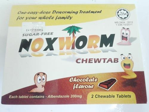 NOXWORM CHEWABLE TABLETS 2S (2 PACKS)