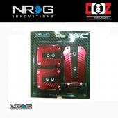 NRG Aluminium Race Pedal Momo Style With Real Carbon - MT (RED)