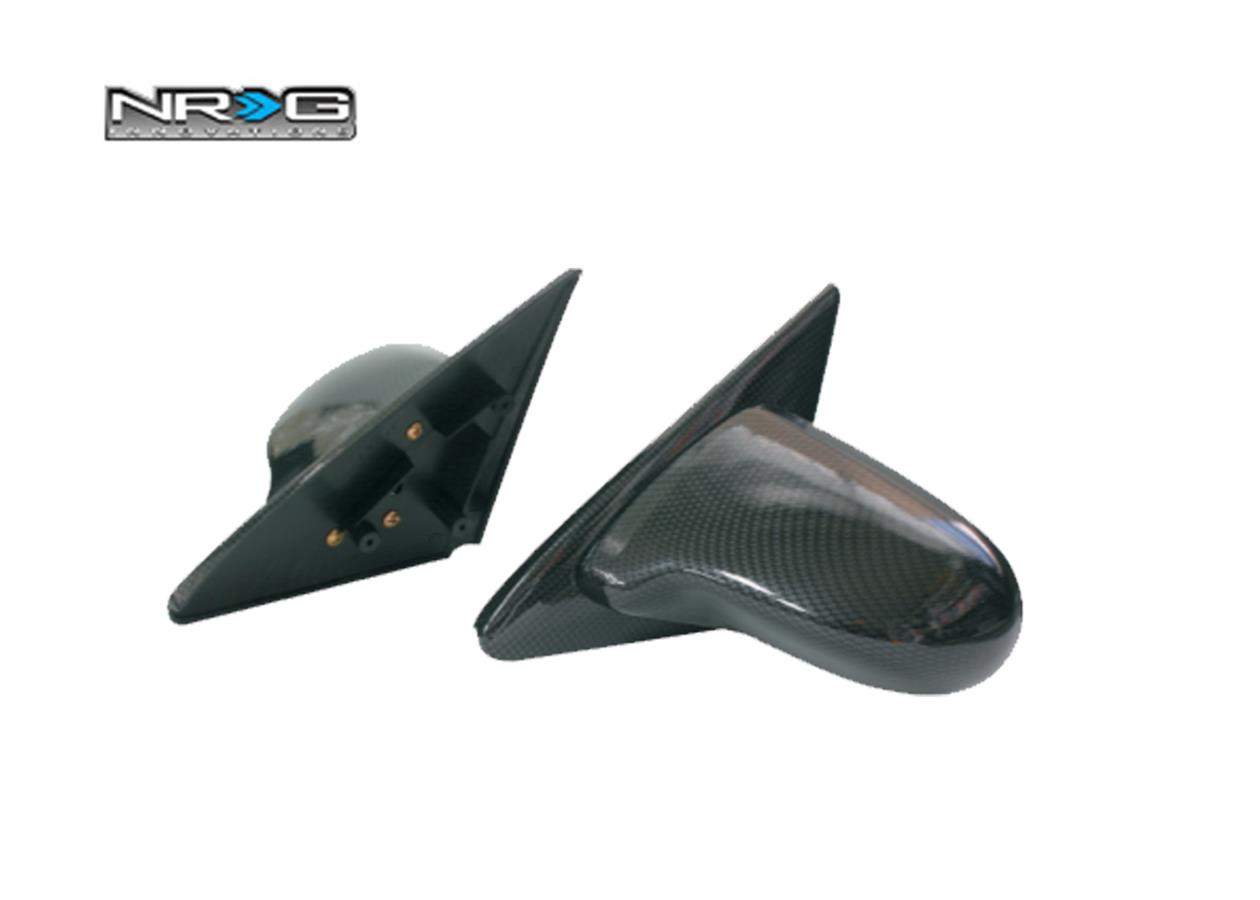 NRG Carbon Look Spoon Style Side Mirror Honda Civic 96 4D