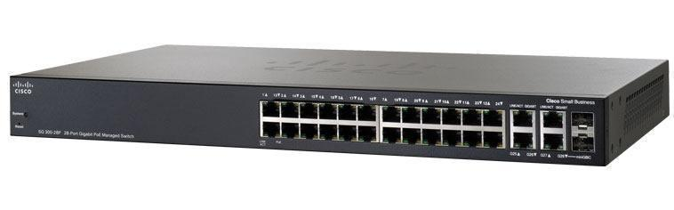 NW.CISCO NETWORK SWITCH L2 MNG 24G./4UPL./2SFP SG300-28 SRW2024-K9-UK