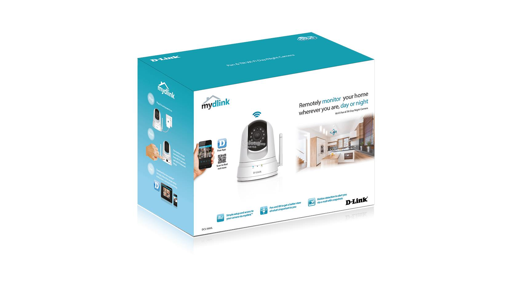 NW. D-LINK IP CAMERA WIRELESS N PAN / TILT BASIC W/ IR DCS-5000L