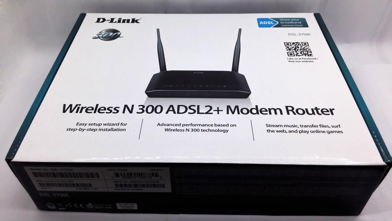NW. D-LINK MODEM ROUTER WIFI N300 DSL-2750E