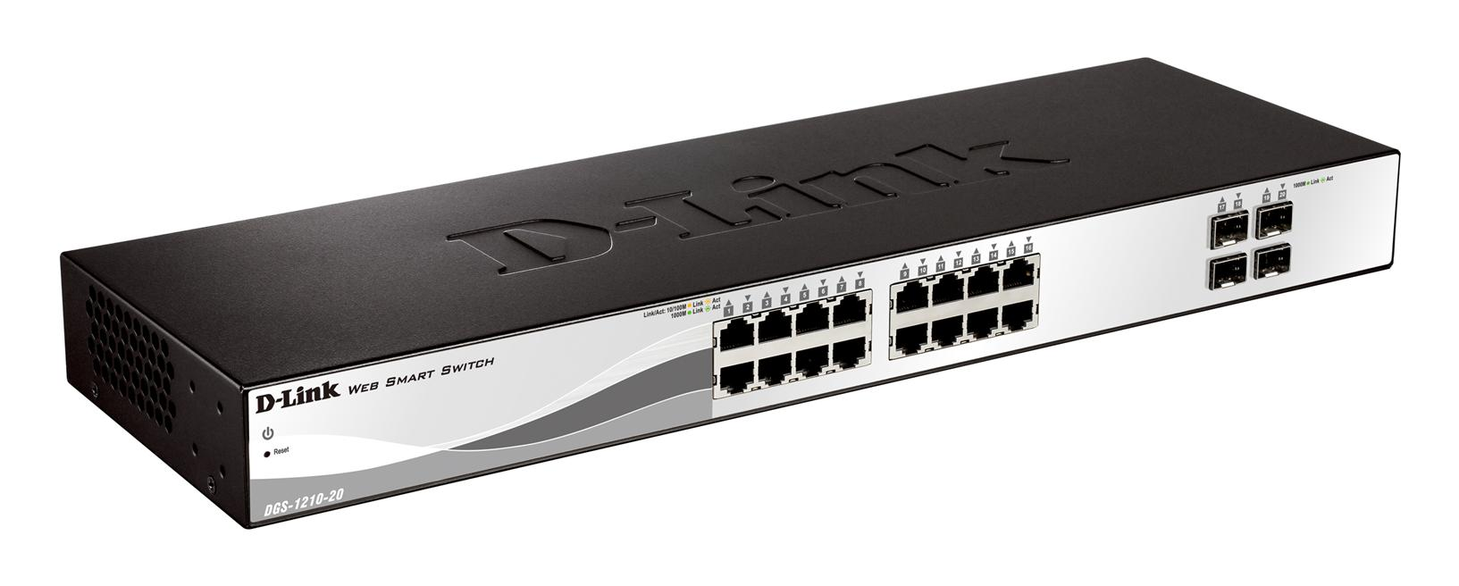 NW. D-LINK NETWORK SWITCH 16P GGB + 4P SFP DGS-1210-20