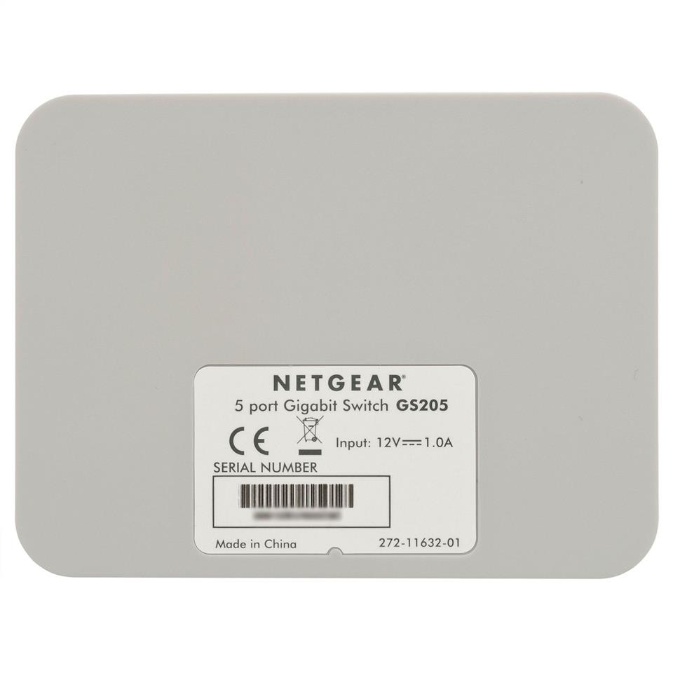 NW. NETGEAR NETWORK SWITCH 5P GGB GS205-100UKS