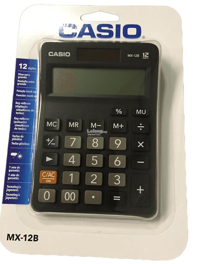 OA. CASIO CALCULATOR 12 DIGITS MX-12B-BK