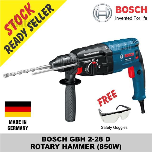 (OFFER) BOSCH GBH 2-28 D ROTARY HAMMER (850W) free safety goggle