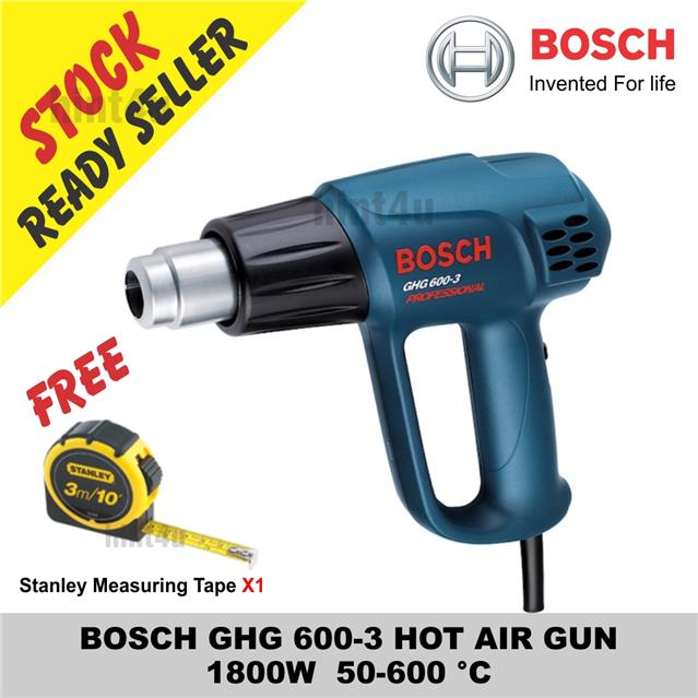 (OFFER) BOSCH GHG 600-3 HOT AIR GUN Stanley Measuring Tape X1