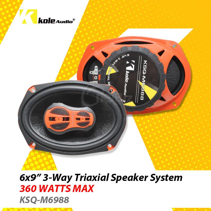 ole Audio - 6' X 9' 3-Way Speaker - 360W - KSQ-M6988