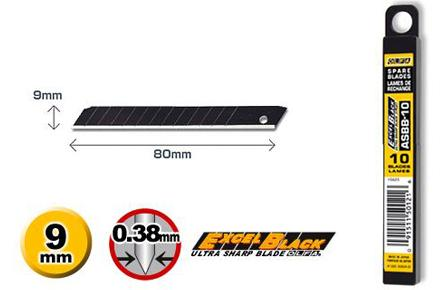 Olfa ASBB-10 9mm Ultra Sharp Standard Blade (10pcs per pack)