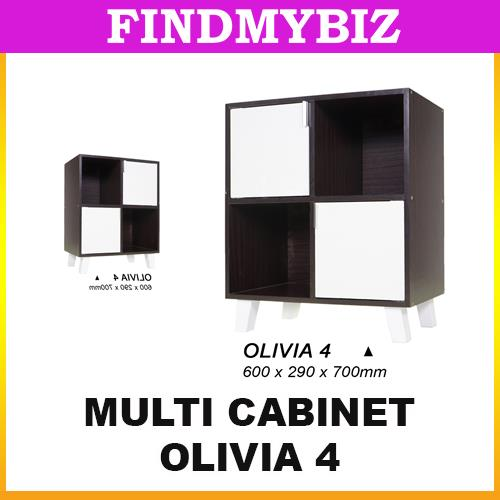 OLIVIA 4 CUBES BOOK CABINET STORAGE SHELVES RACK BED SIDE TABLE TABLE