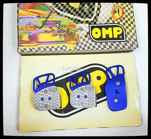 OMP STEEL PEDAL - MANUAL - SILVER