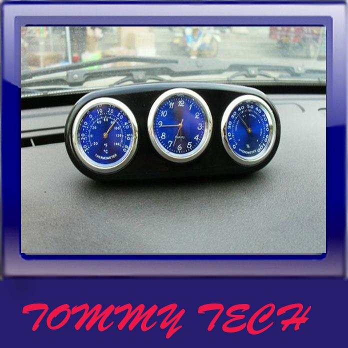 Onboard vehicle Car clock thermometer hygrometer