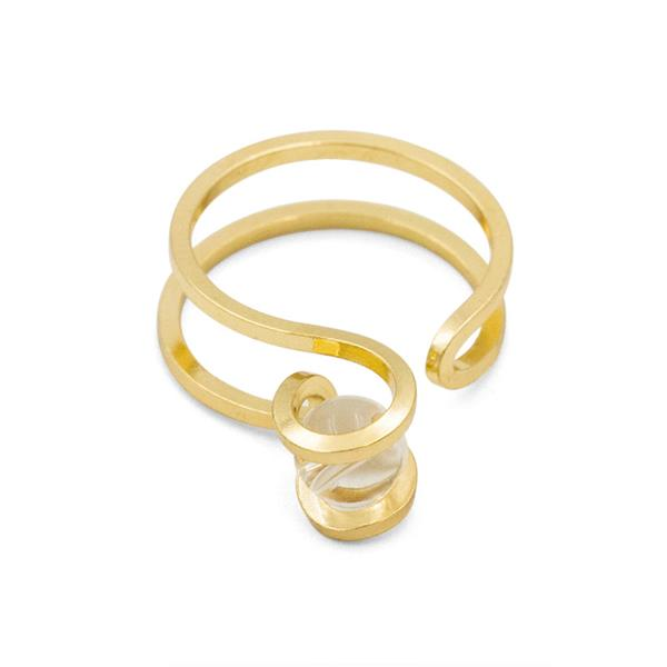 One in a Million Gold Tone Ring with Acrylic Stone Detail