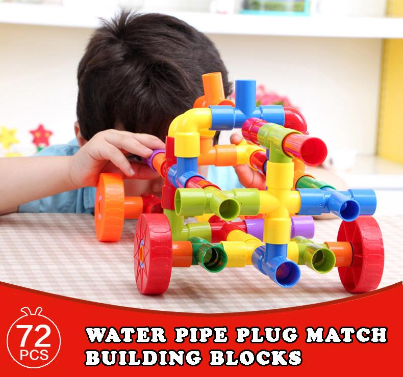 Onshine Educational Toy - Water Pipe Plug Match Building Blocks