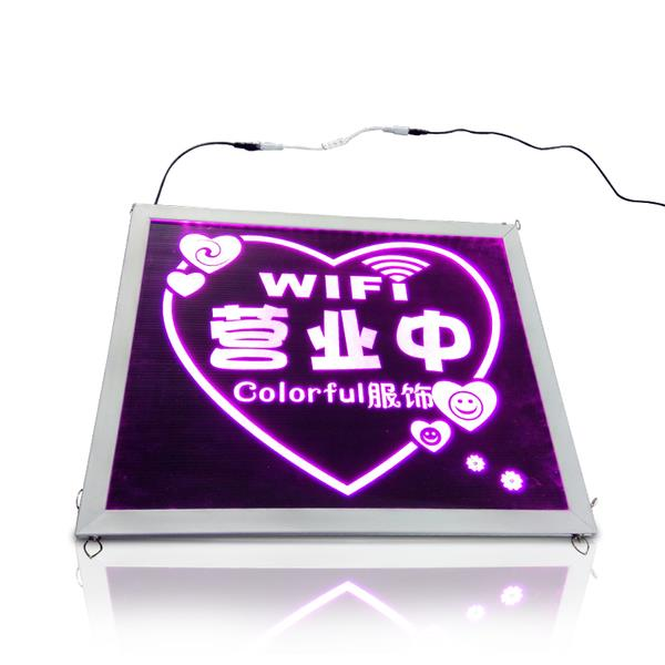 'OPEN' LED Signage With WIFI FREE wording