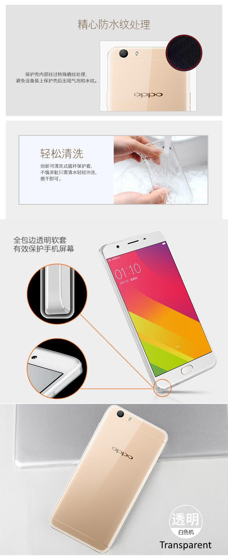 OPPO F1S Soft Transparent TPU Case