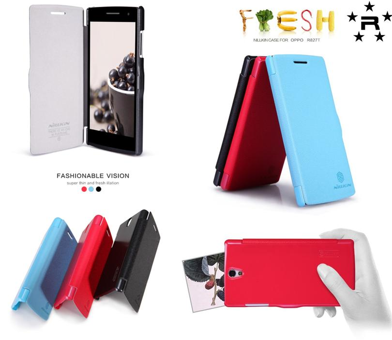 OPPO R827T Nillkin Fresh Series Leather Case - rmtlee