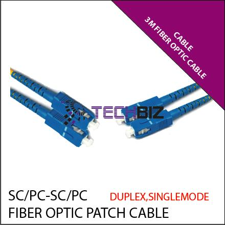 Optical Fiber Cable Single Mode 3M SC/PC-SC/PC SM DX 9/125 3.0mm