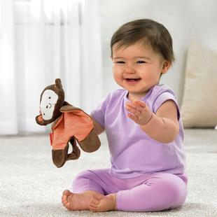 Orange Monkey Baby Comforter - Safe, Soft and Comfortable