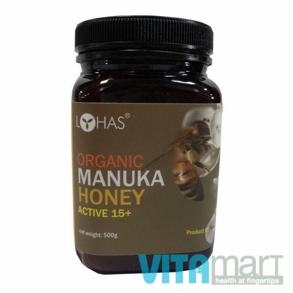Organic Manuka Honey Active 15+, 500gm