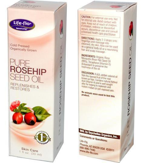 Organic Pure Rosehip Seed Oil 30ml, Rose hips, rosehips, skin care USA