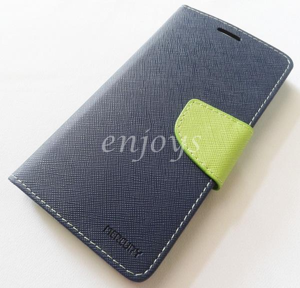 ORI MERCURY Fancy Diary Book Case Cover Pouch Lenovo Vibe X S960 ~Navy