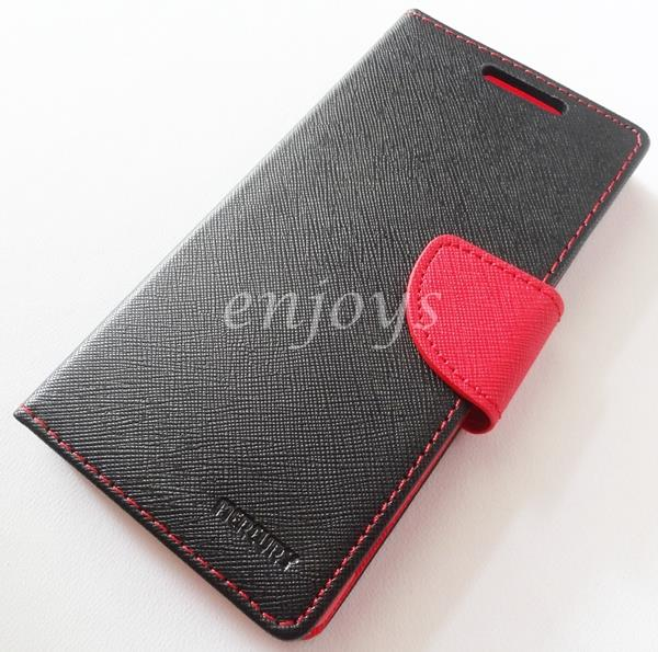 ORI MERCURY Fancy Diary Book Case Cover Sony Xperia Z3 / D6653 ~BLACK