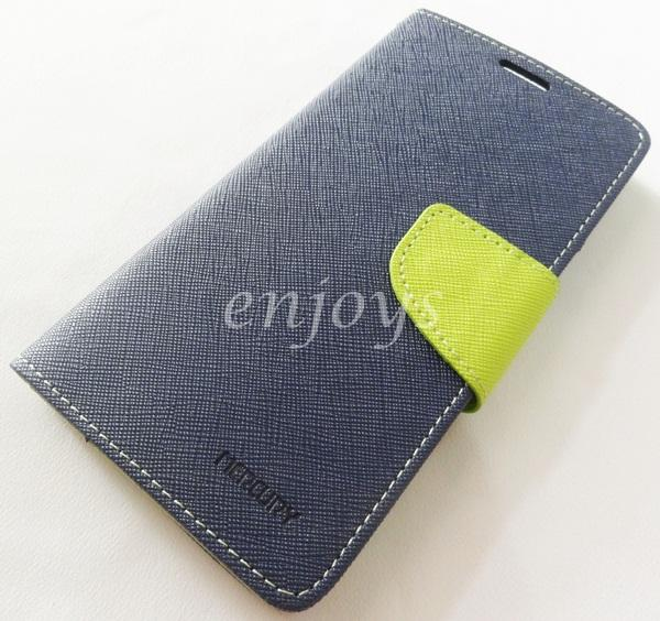 ORI MERCURY Fancy Diary Book Case Cover Sony Xperia Z3 / D6653 ~NAVY
