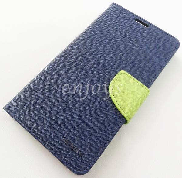 ORI MERCURY Fancy Diary Book Case Flip Cover Pouch Lenovo S856 ~NAVY