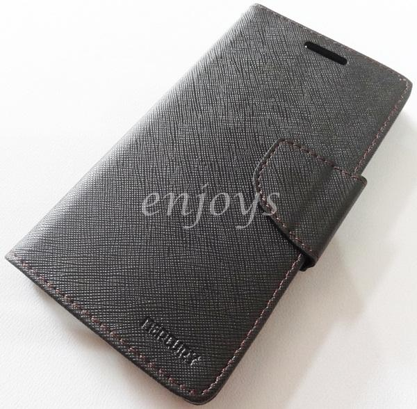ORI MERCURY Fancy Diary Book Case Pouch Samsung I9300 Galaxy S3 ~BLACK