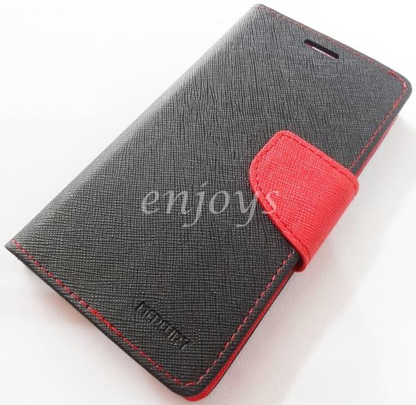 ORI MERCURY Fancy Diary Book Flip Case Cover Pouch Lenovo S850 ~BLACK