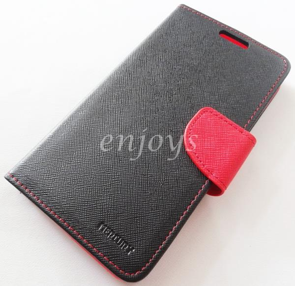 ORI MERCURY Fancy Diary Case Pouch Samsung Galaxy Note 3 N9005 ~BLACK