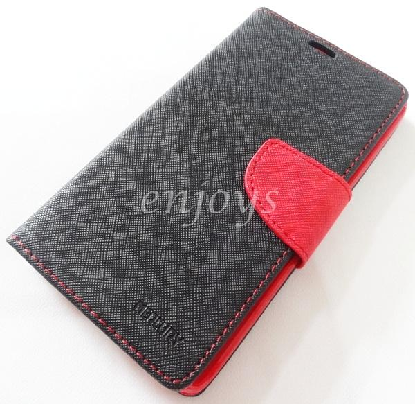 ORI MERCURY Fancy Diary Case Samsung Galaxy Note Edge / N915 ~BLACK
