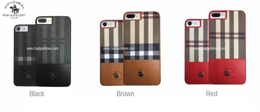 hot sale online 3fc16 c83ee Ori Santa Barbara Polo Club Plaid iPhone 7 Plus Leather Case Cover