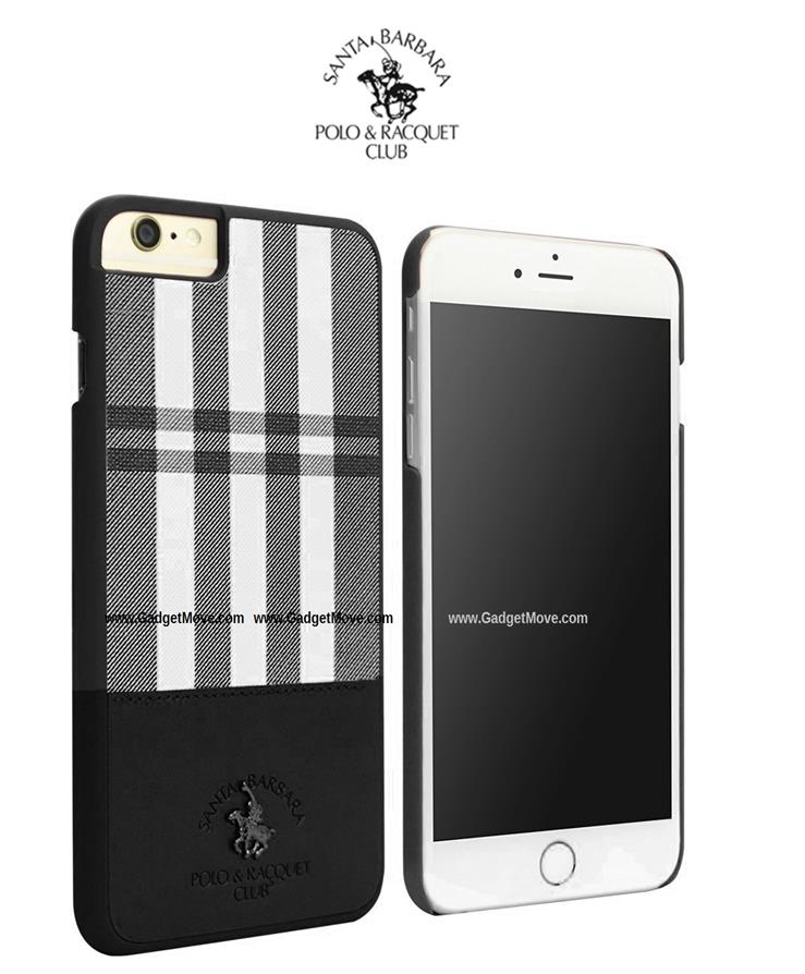 Ori Santa Barbara Polo Club Plaid iPhone 7 Plus Leather Case Cover