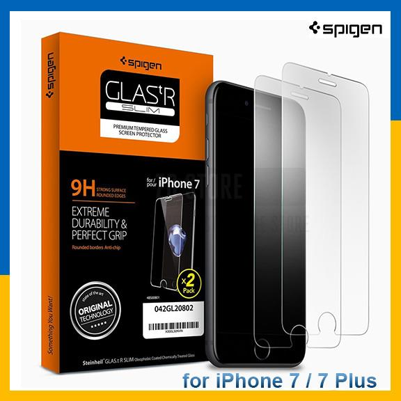 Ori Spigen iPhone 7 7 Plus Screen Protector with Tempered Glass 2 Pack