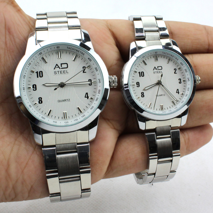 Original AD Steel Watches Timepiece for Couple Men Women