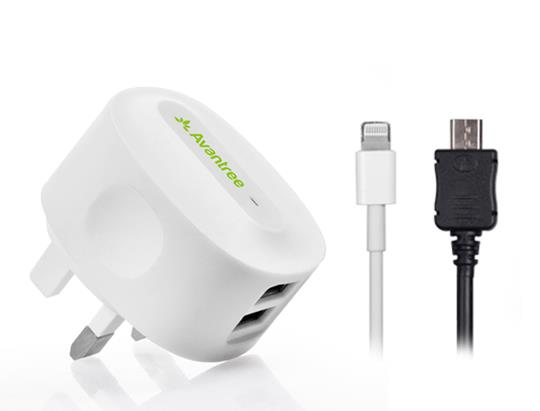 ORIGINAL AVANTREE CGST-15 2.1Amp Wall Travel Charger Kit N7100 i9500
