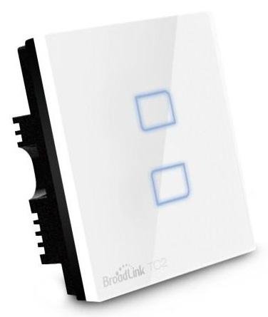 Original Broadlink Smart Home E-Touch 2-Gang Switch (White)