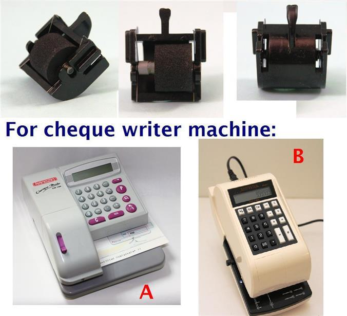 ORIGINAL CHEQUE WRITER / CHECKWRITER  INK ROLLER ** BEST OFFER **