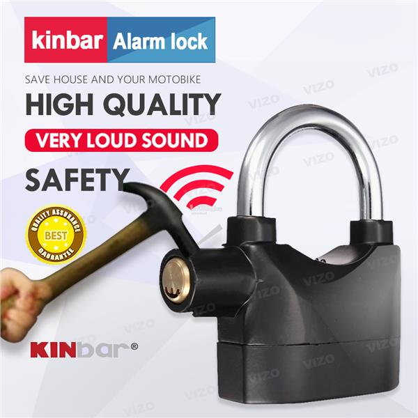 ORIGINAL Kinbar SIREN ALARM PADLOCK for DOOR/Motor/Bike/Car PAD LOCK