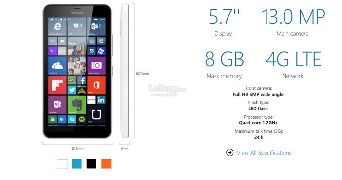 (ORIGINAL) Microsoft Lumia 640 XL  LTE NOKIA WARRANTY