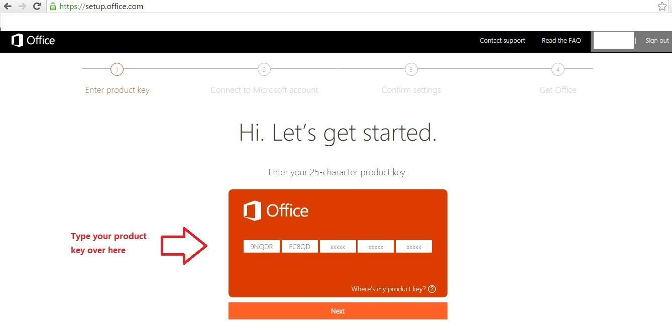 how to get new product key for microsoft office 2010