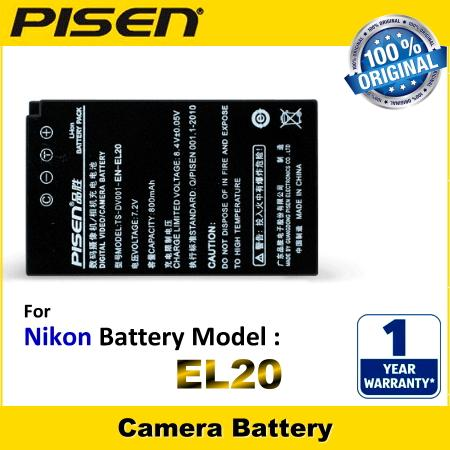 ORIGINAL PISEN Camera Battery EN-EL20 Nikon Coolpix A Battery