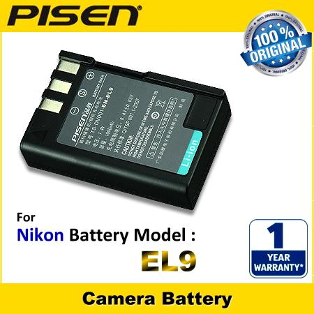ORIGINAL PISEN Camera Battery Nikon EN-EL9 EN-EL9e ENEL9e Battery