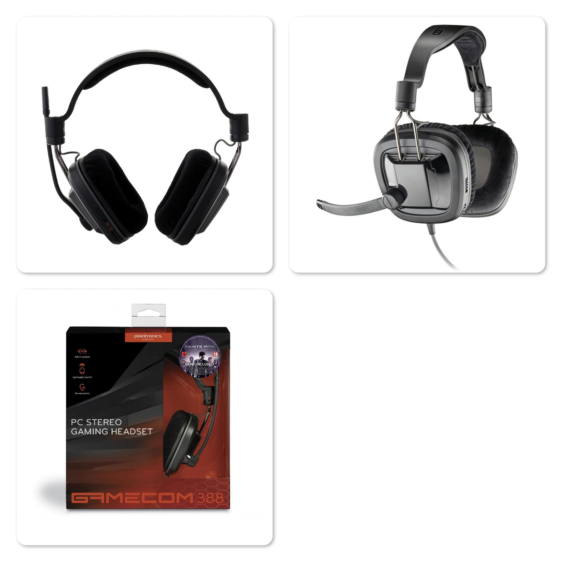Original Plantronics GameCom 388 Stereo Gaming Headset with Mic