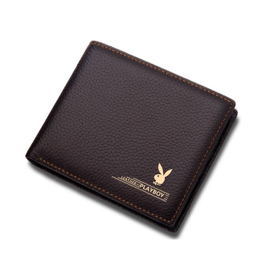 Original Playboy Men Leather High Quality Men Wallet Free Gift Box Ite