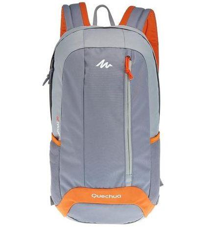 Original QUECHUA Arpenaz 20L Outdoor Backpack - Grey/Orange